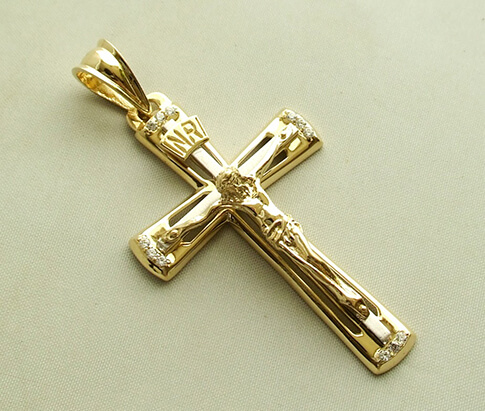 Bicolor gouden kruis