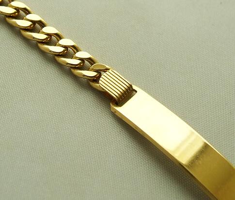 Gouden armband met naamplaat