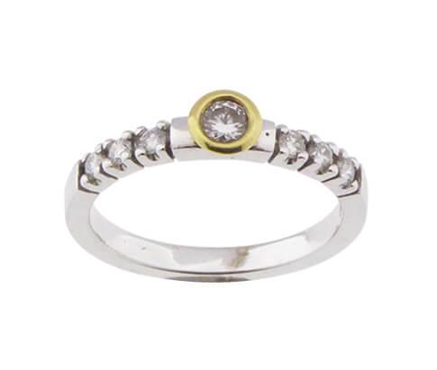 Christian bicolor gouden ring met diamanten