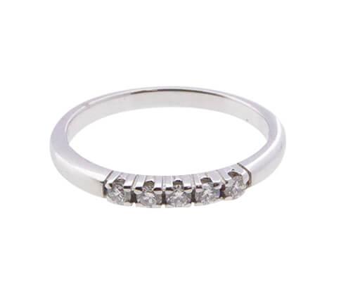 Christian wit gouden alliance ring