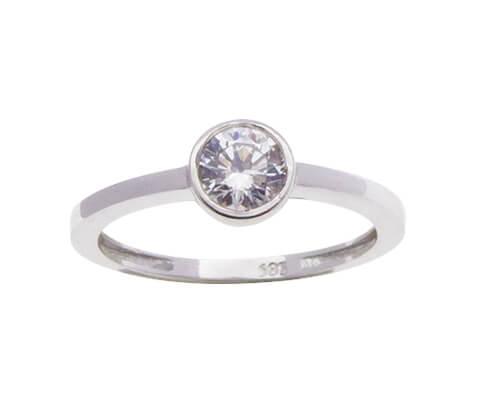 Wit gouden Christian zirkonia ring